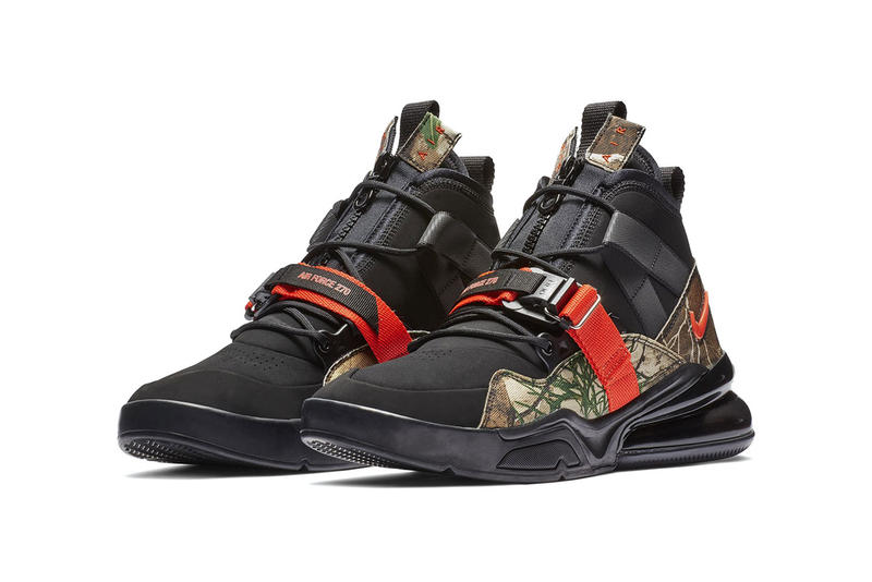 0b0d41729bbe94 nike air force 270 sneaker drop release date info colorway pattern  camouflage orange 2019
