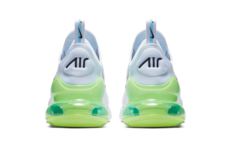 Nike Air Max 270 Logo Release Date White Explosion Green Yellow Info