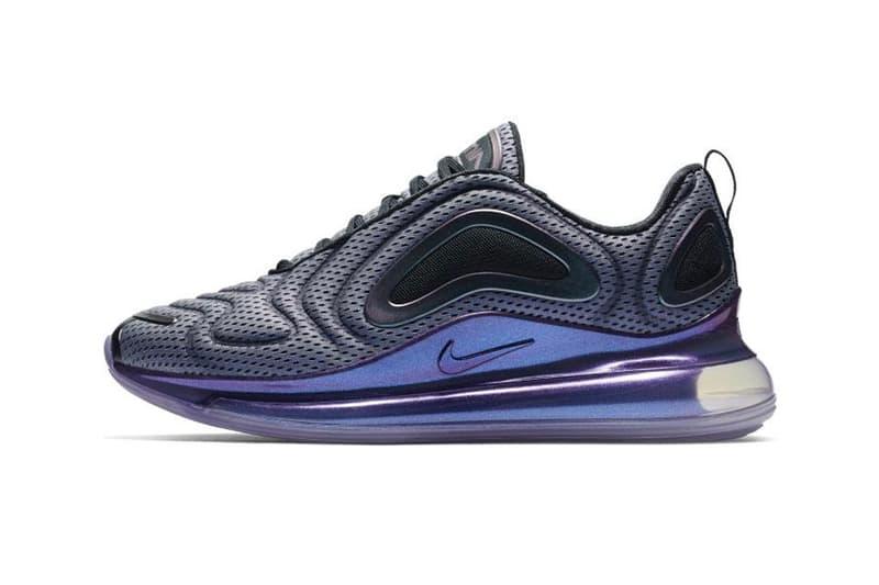 Nike Air Max 720 Aurora Borealis Spring 2019 Aurora Borealis Sneakers Trainers Old School Retro Sportswear Kick Air Throwback Colors Metallic  northern lights black purple
