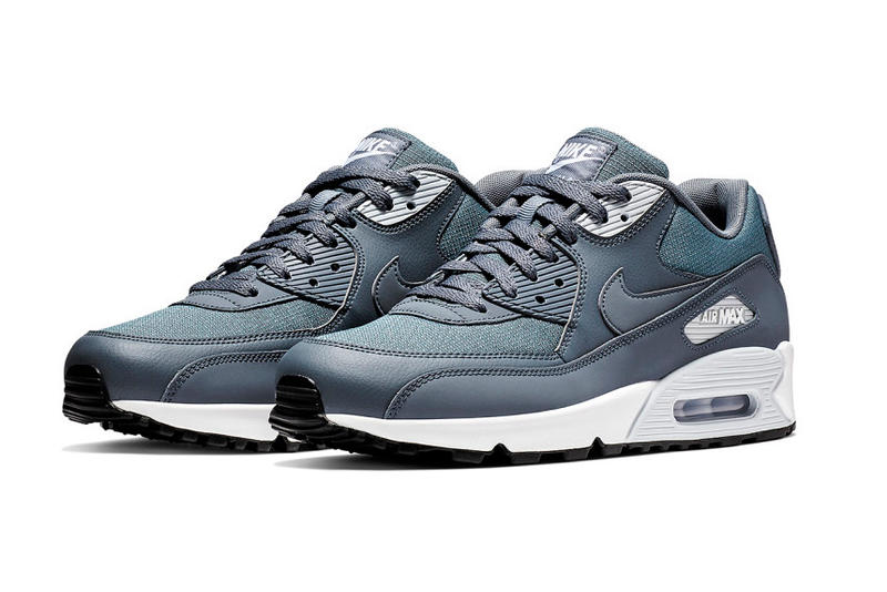 "promo code ee89b be75a Nike Air Max 90 Essential ""Armory Blue"" swoosh white grey nike air"