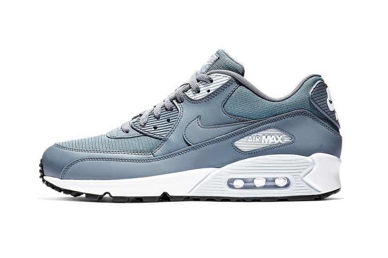 "Nike Air Max 90 Essential ""Armory Blue"" swoosh white grey nike air"