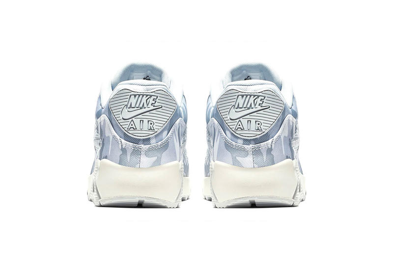 "Nike Air Max 90 ""Pure Platinum/Summit White"" winter camo release date info price colorway sneaker"