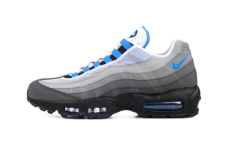sports shoes 504eb b959b Nike Air Max 95 Crystal Blue Re Release White Crystal Blue 2019 Info Date