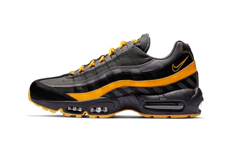 Nike Air Max 95 Essential Black   Orange colorway sneaker release date info  price multi texture d62f43cad
