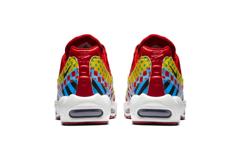 27ad1e37c35 Nike Air Max 95 Essential Carnival Colorway red yellow blue print  multicolor release date info price