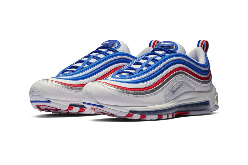 """Nike Air Max 97 """"Game Royal/Metallic Silver"""" Release Info date price sneaker colorway blue red silver white"""