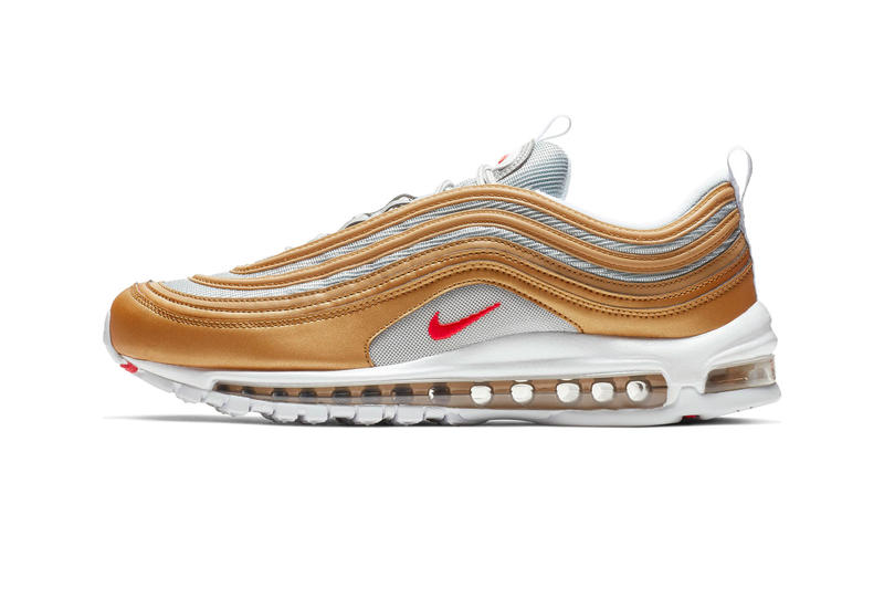 Nike Air Max 97 Metallic Gold/University Red Release info Date price stockist