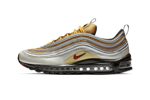 "Nike Releases the Air Max 97 in ""Metallic Gold/Metallic Silver"""