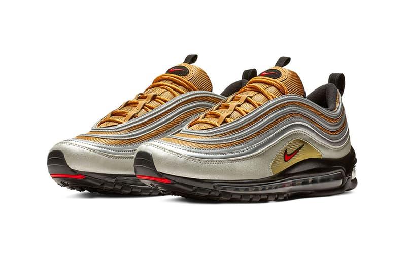 "Nike Air Max 97 ""Metallic Gold/Metallic Silver"" release date info price sneaker metallic pack colorway retailer stockist buy online"