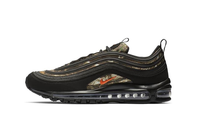 "Nike Air Max 97 ""Realtree"" Colorway Release Info details drop date black"