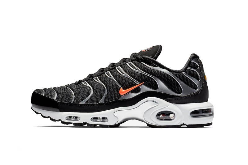 3d11fc4db54f nike air max plus black white orange drop info footwear nike sportswear  metallic silver tuned air. 1 of 4. Sneaker Bar Detroit
