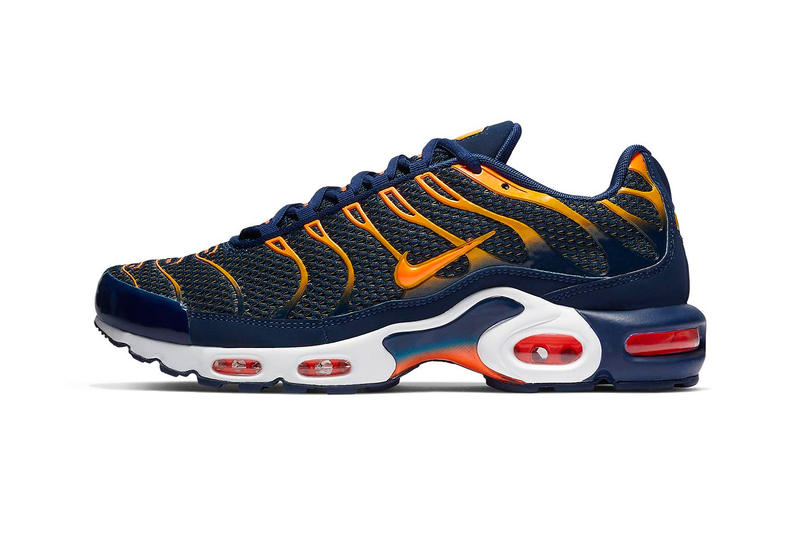 Nike Air Max Plus Blue Void Total Orange Hypebeast