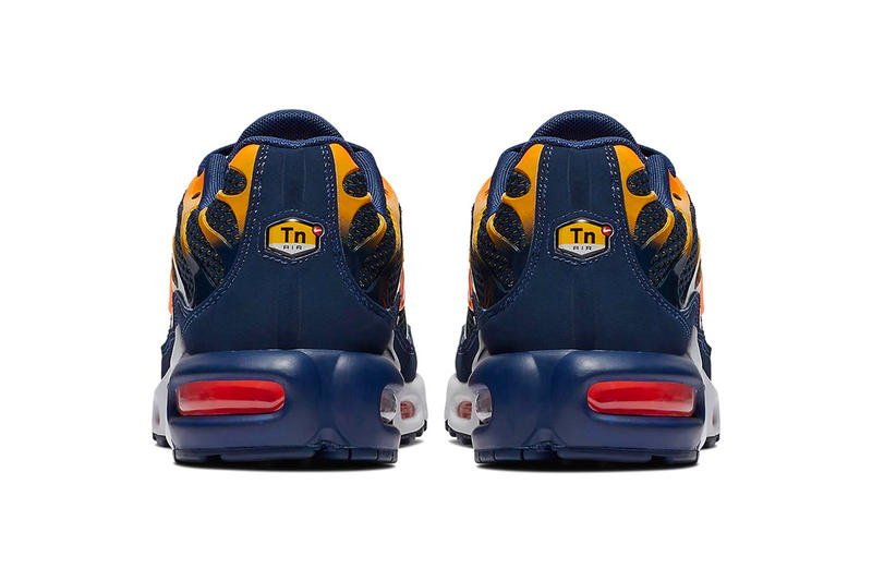 "Nike Air Max Plus ""Blue Void"" Release Date price info Blue Void/University Gold/White/Total Orange sneaker colorway purchase stockist buy online"