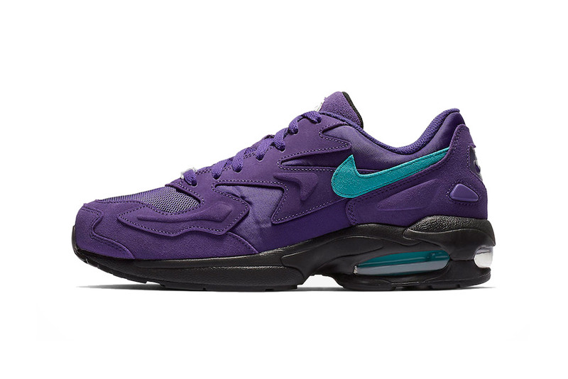"b4dacbd354 Nike's Air Max2 Light Returns in Two Bold ""Grape"" Options"
