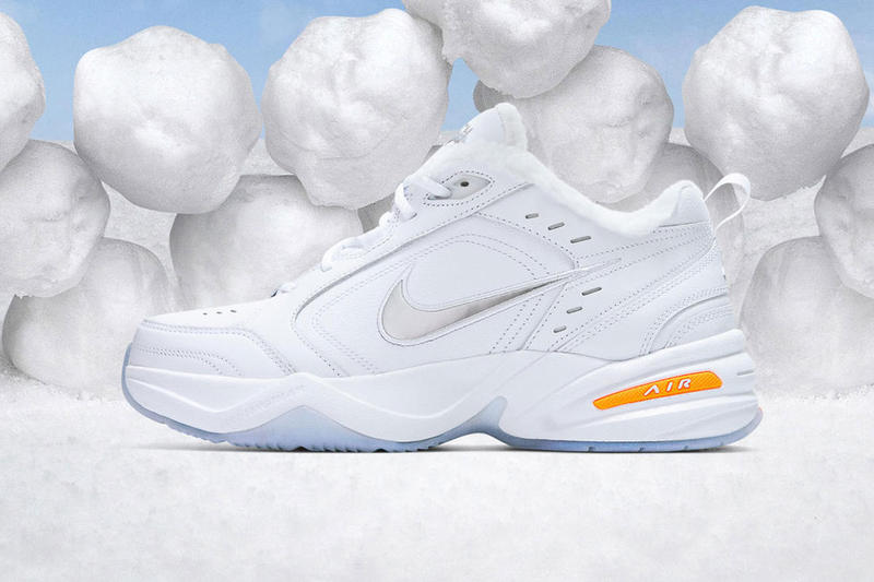 nike air monarch iv snow day release date 2018 december footwear nike  sportswear sherpa lining orange 01bfb8ffa