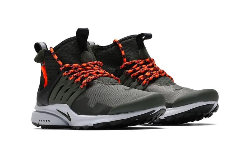 Nike Air Presto Mid Utility Cargo Khaki Release Sequoia Black 859524 301