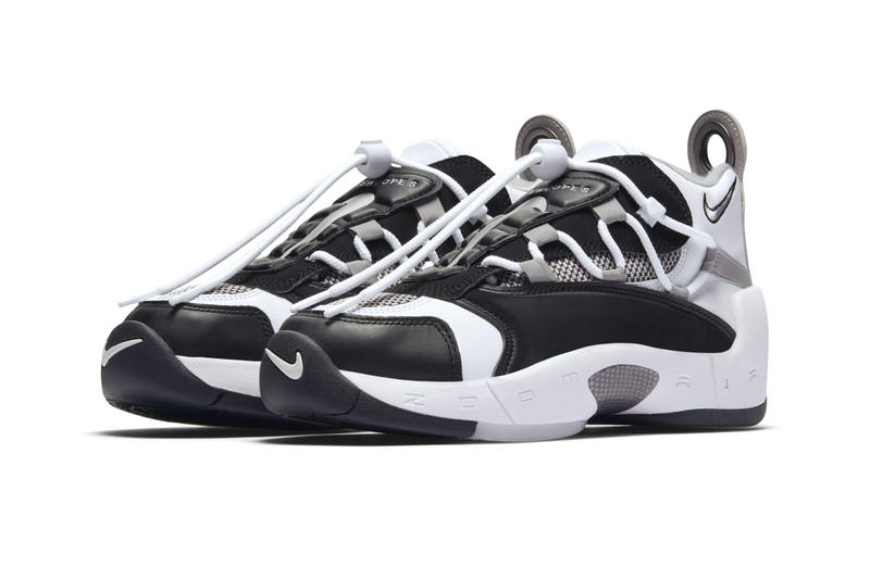 Nike Air Swoopes 2 Black White Grey Info WNBA Sheryl Swoopes sports 1990