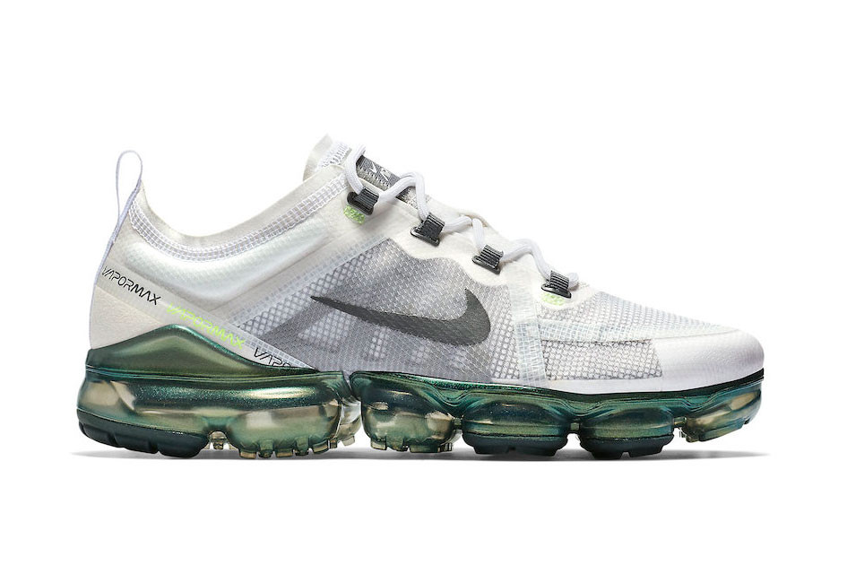 """1c5be1be43f Nike Air Vapormax 2019 PRM """"White Lime"""" Color 