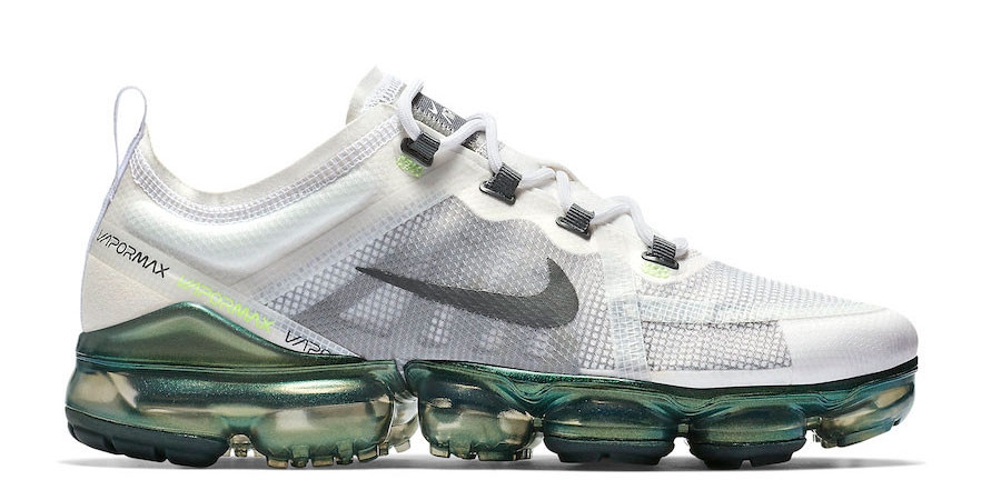 white and green vapormax cheap online