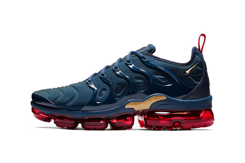 caa1c2e7341 nike air vapormax plus navy red white metallic gold olympic 2018 december  nike sportswear fotwear