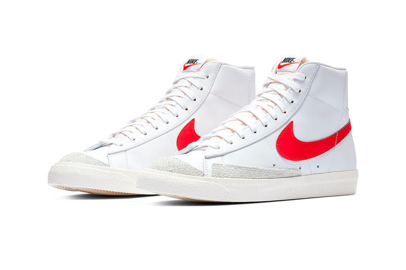 Nike Blazer Mid 77 vintage 2019 info sportswear kicks og colorway red classic basketball retro january 1 drop date BQ6806-600 Habanero Red white orange