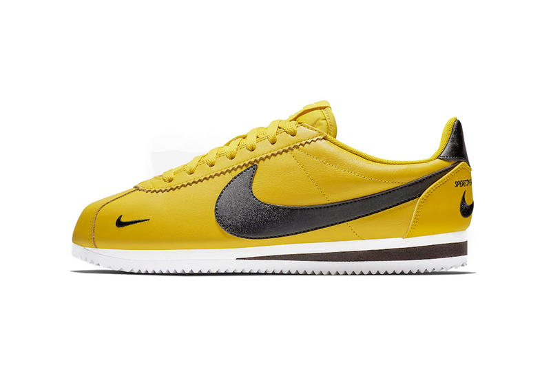 nike cortez premium bright citron black white 2018 december footwear nike sportswear
