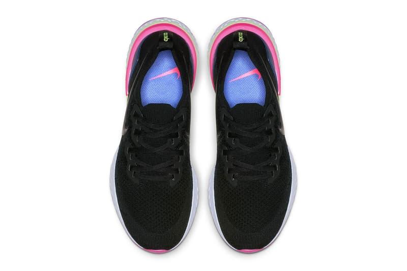 Nike Epic React Flyknit 2 First Look Pixel black blue purple green neon