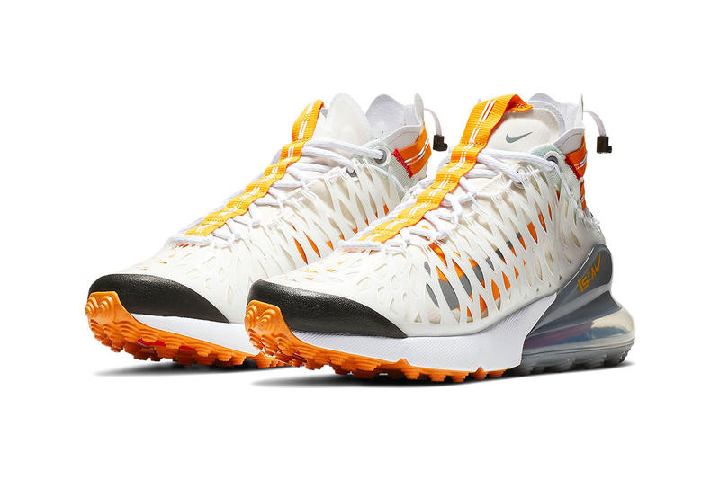 Nike ISPA Air Max 270 SP SOE First Look sneakers black white grey orange swoosh