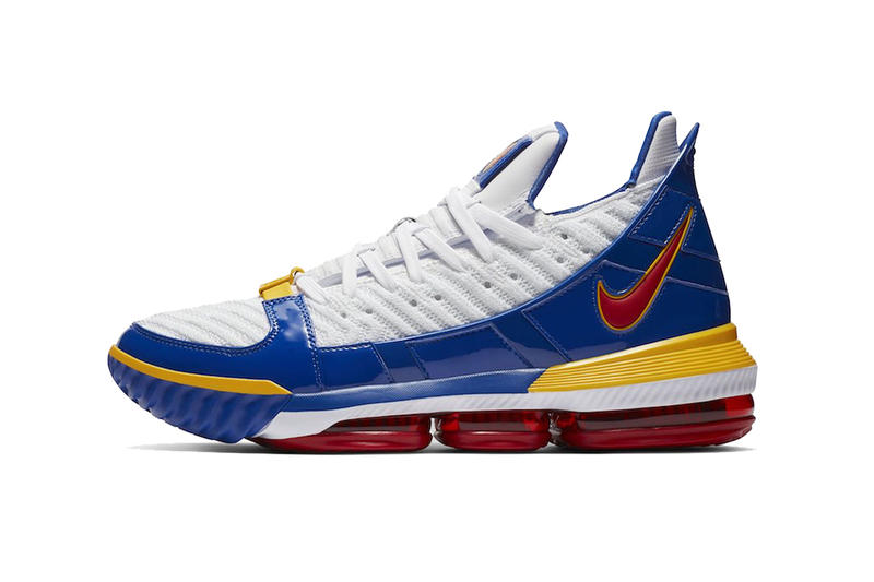 huge selection of 21a01 63778 nike lebron 16 supebron release information nike basketball footwear lebron  james white blue red yellow nike