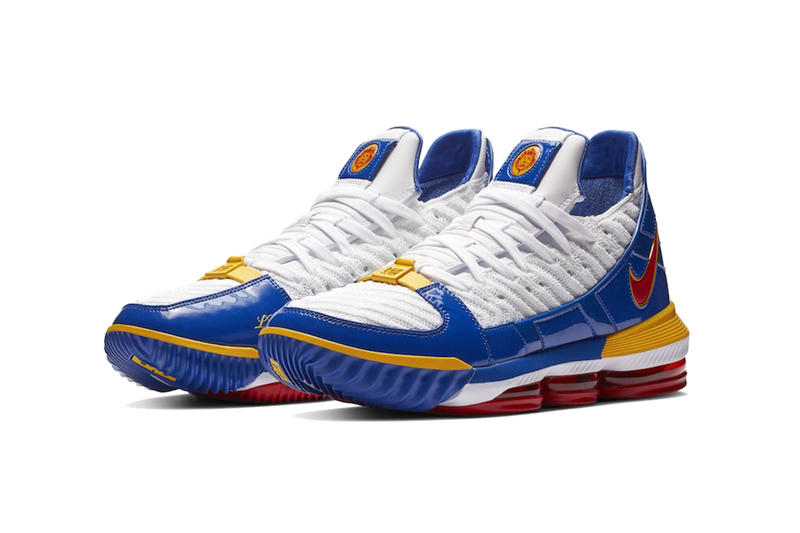 nike lebron 16 supebron release information nike basketball footwear lebron james white blue red yellow nike zoom lebron 3