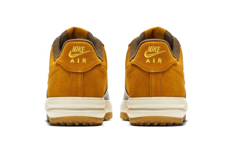 "Nike Lunar Force 1 Duckboot Low ""Desert Ochre"" release date info price sneaker colorway BAROQUEBROWN/GUMLIGHTBROWN/UNIVERSITYGOLD/DESERT OCHRE"