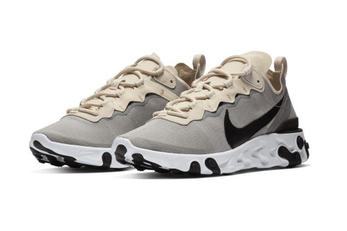 Nike React Element 55 Goes Neutral in Cream and Light Grey