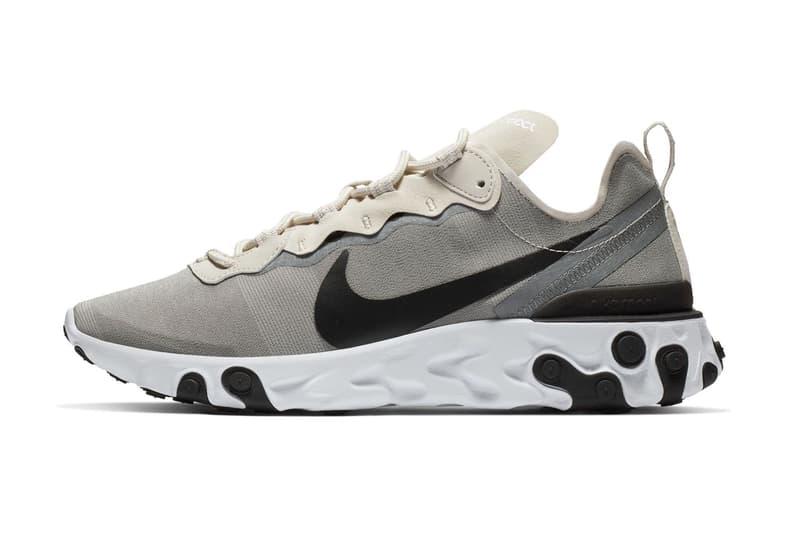 Nike React Element 55 Cream Light Grey