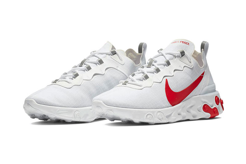 nike react element 55 white red blue colorway drop release date closer look info
