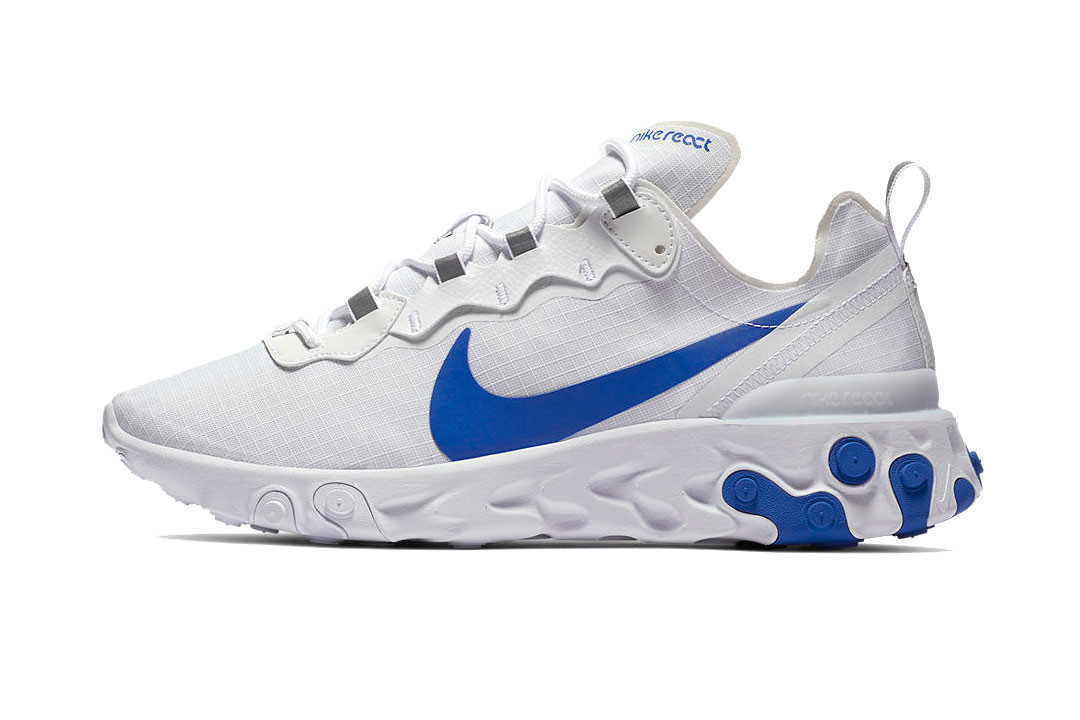 Nike React Element 55 in White/Red/Blue