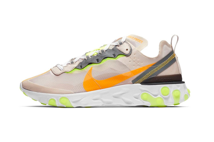 "save off c0cb0 6da6e Nike Dresses Its React Element 87 in ""Light Orewood"""