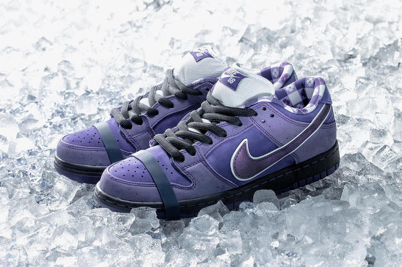 Concepts x Nike SB Dunk Low Purple Lobster The Berrics Canteen sold for 10,000 thousand usd dollars placeholder raffle resale
