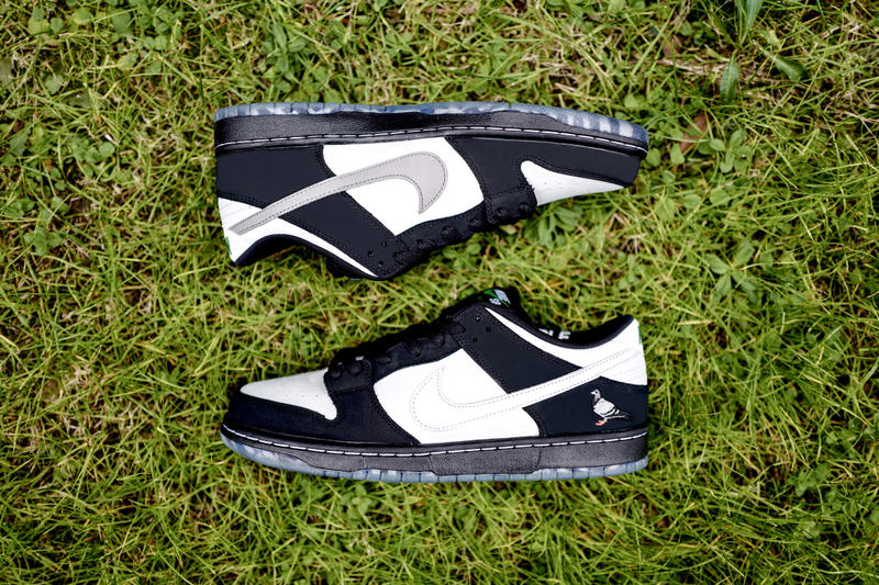 purchase cheap 9c6c8 04bb9 Nike SB Dunk Low Panda Pigeon Collection NTWRK Early Release Info Date  Black Green Hoodie T