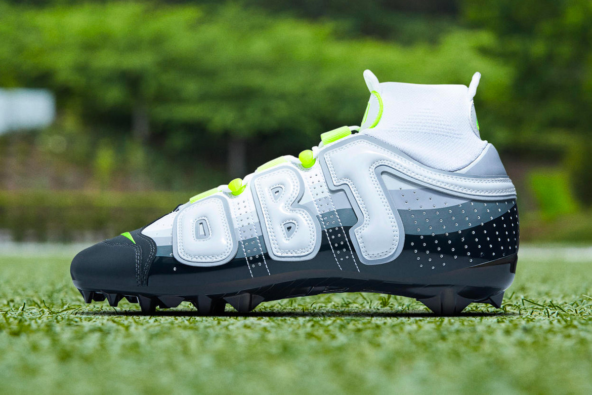 buy popular c98b6 06176 OBJ Uptempo Cleats Nike Air Max 95