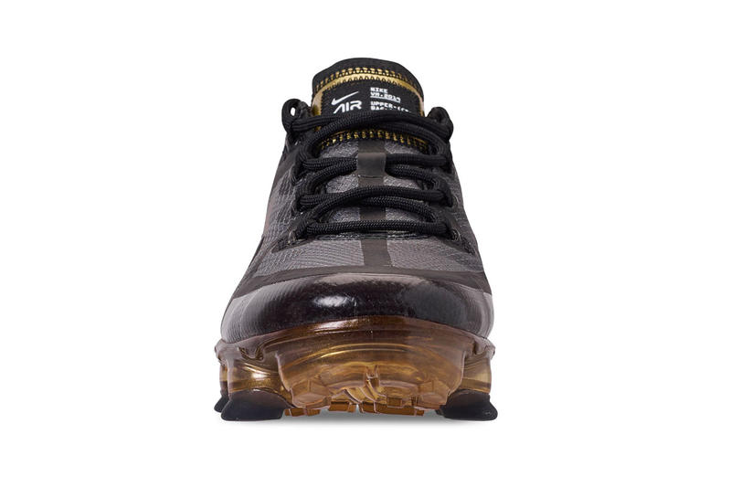 "Nike Air VaporMax 2019 ""Black/Gold"" Release Date price info sneaker colorway purchase link stockists footwear"