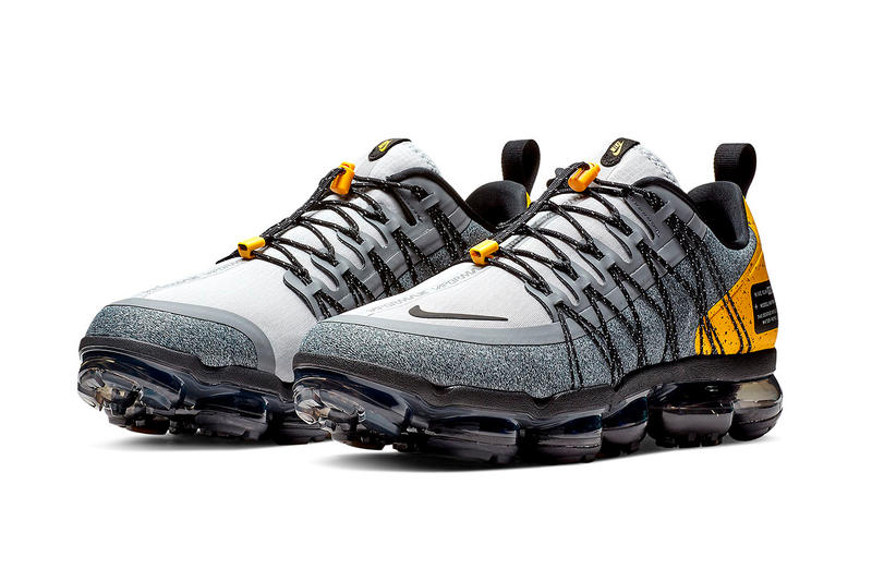 sneakers for cheap 798e0 dd87e Nike Air VaporMax Run Utility Grey Yellow sneakers Wolf Grey Amarillo Cool  Grey Black