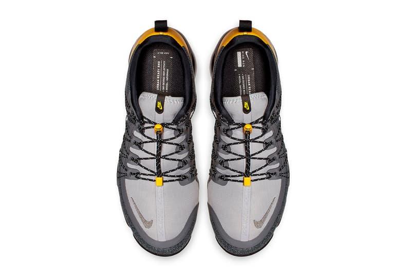 Nike Air VaporMax Run Utility Grey Yellow sneakers Wolf Grey Amarillo Cool Grey Black