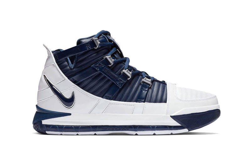 6c5f6c149433 nike zoom lebron 3 white navy blue silver release date 2018 december lebron  james nike basketball. Sneaker Bar Detroit