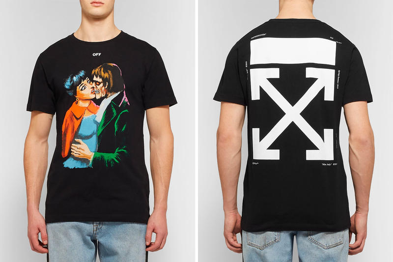 "Off-White™ ""Kiss"" Graphic T-Shirt Pre-SS19 black price virgil abloh stockist buy online purchase skeleton"