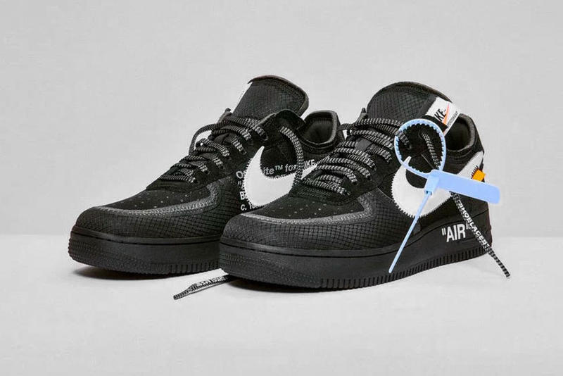 b02cc3d62c054e Nike Off White Air Force 1 af1 Black Cone Volt Release december 19 2018  price black