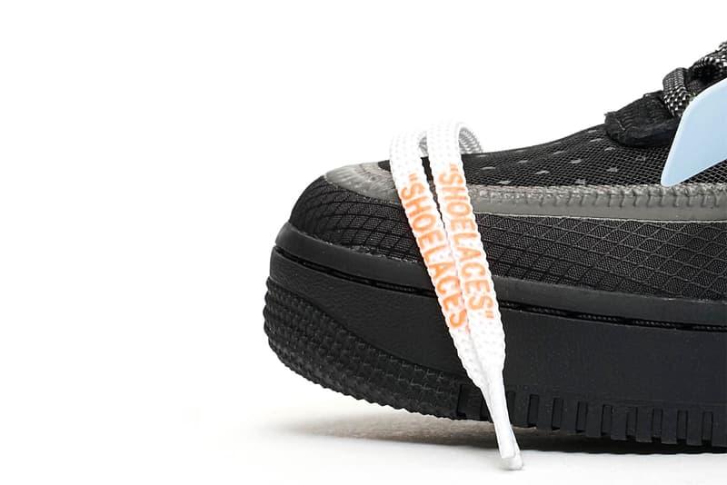 """Off-White™ x Nike Air Force 1 """"Black"""" Virgil abloh Sneakers kicks footwear trainers the ten hypebeast air force one AF-1"""