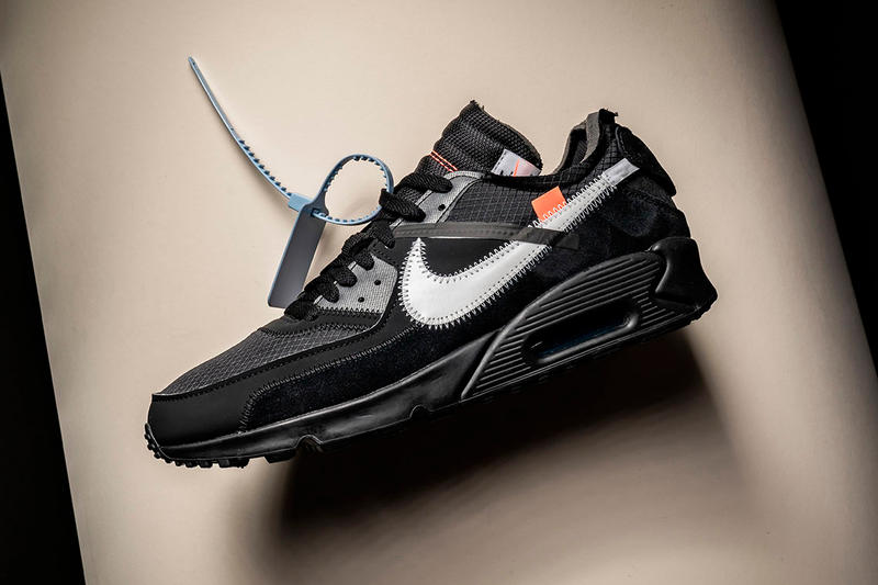 Off-White™ x Nike Air Max 90 Black Rumored Release January swoosh virgil  abloh b7dc90ca075