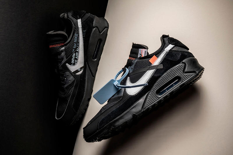Off-White™ x Nike Air Max 90 Black Rumored Release January swoosh virgil abloh hangtag
