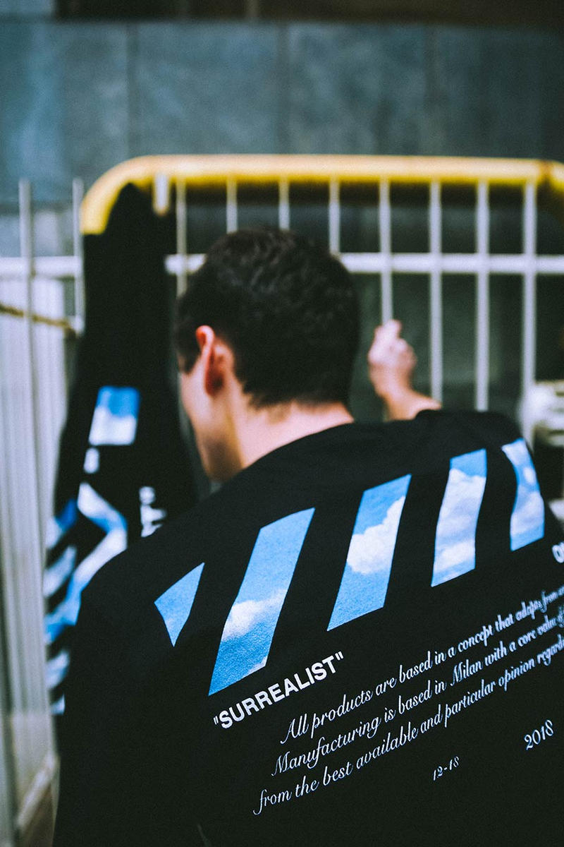 "Off-White x Smets ""Surrealist"" Capsule Collection virgil Belgium Art René Magritte Virgil Abloh"