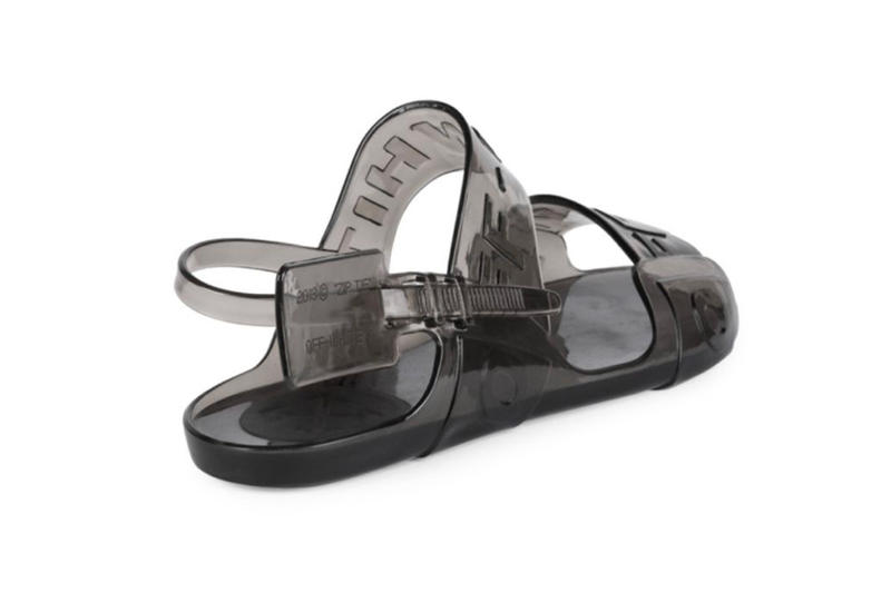 a031eacb434 Off-White™ Jelly Sandals Release black clear blue virgil abloh